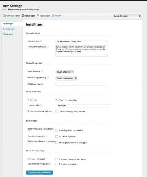 Instellingen-formulieren-WPsherpa